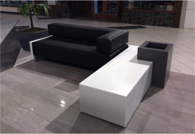 Mobiliario áreas de descanso, Mall Plaza el Trebol